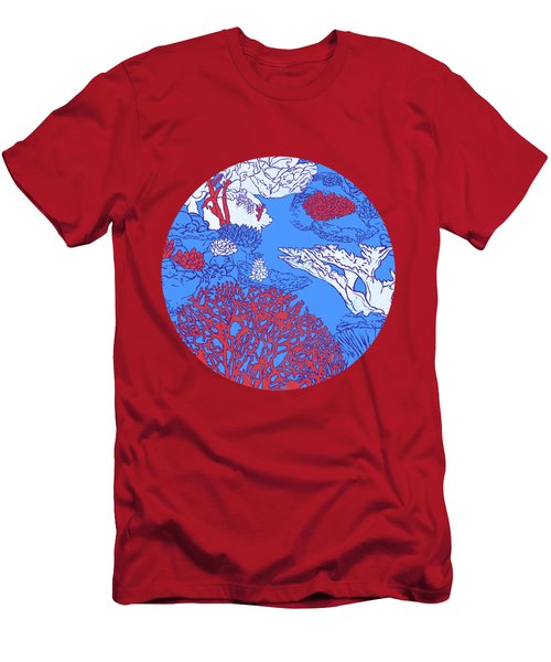 Coral Reef Men's T-Shirt (Slim Fit) by Evgenia Chuvardina