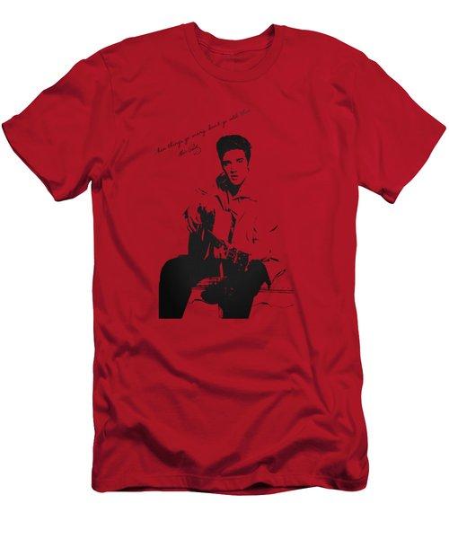 Elvis Presley - When Things Go Wrong Men's T-Shirt (Slim Fit) by Serge Averbukh