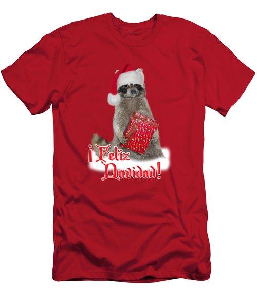 Feliz Navidad - Raccoon Men's T-Shirt (Slim Fit) by Gravityx9  Designs