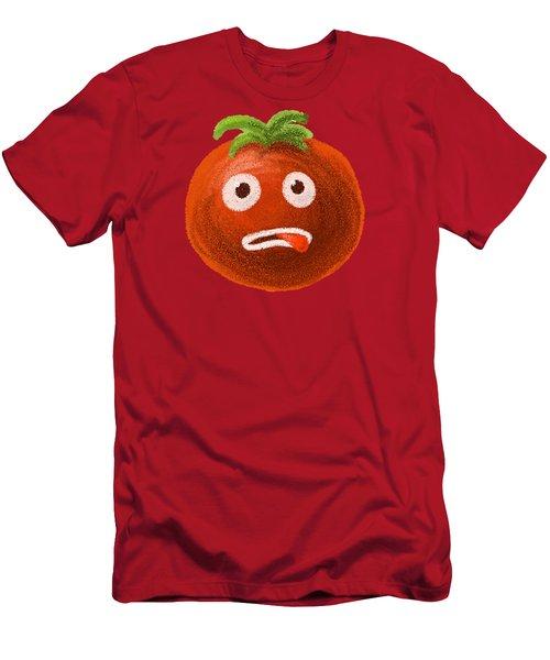 Funny Tomato Men's T-Shirt (Slim Fit) by Boriana Giormova