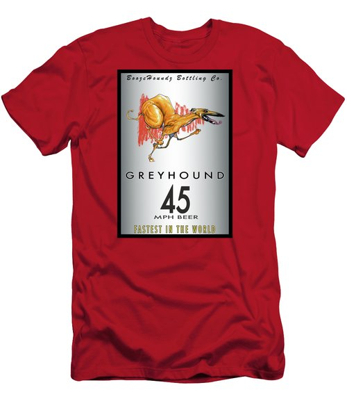 Greyhound 45 Mph Beer Men's T-Shirt (Slim Fit) by John LaFree