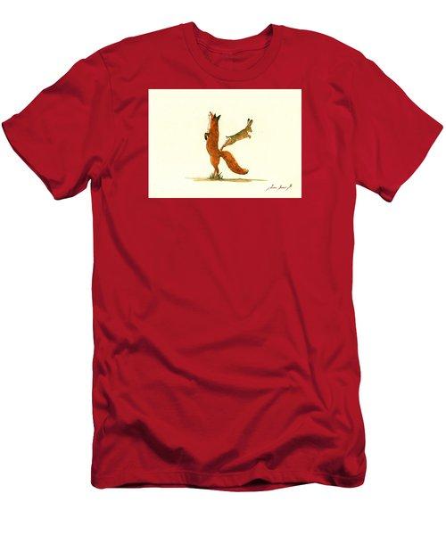 K Letter Woodland Alphabet Men's T-Shirt (Slim Fit) by Juan  Bosco