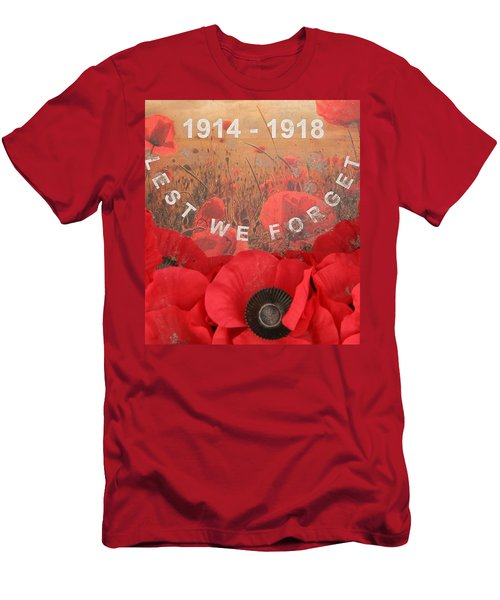 Men's T-Shirt (Slim Fit) featuring the photograph Lest We Forget - 1914-1918 by Travel Pics