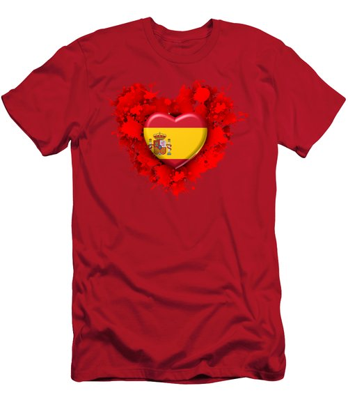 Love Spain Men's T-Shirt (Slim Fit) by Alberto RuiZ