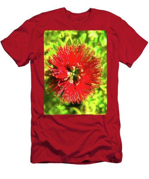 My Surreal Christmas Flower Men's T-Shirt (Slim Fit) by Jackie VanO