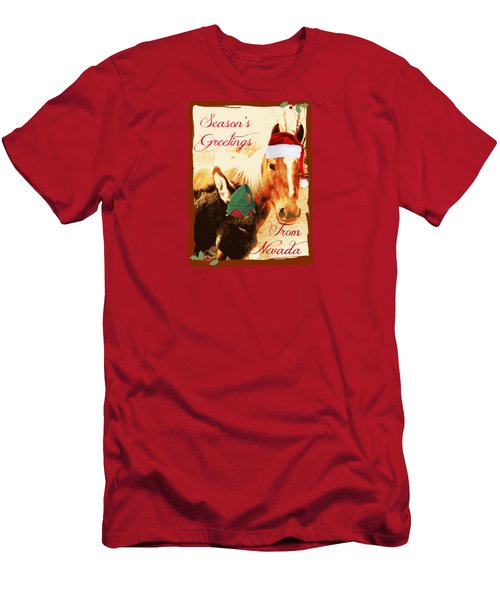 Nevada Greetings Men's T-Shirt (Slim Fit) by Bobbee Rickard
