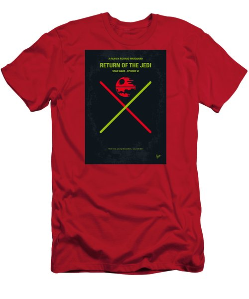 No156 My Star Wars Episode Vi Return Of The Jedi Minimal Movie Poster Men's T-Shirt (Slim Fit) by Chungkong Art
