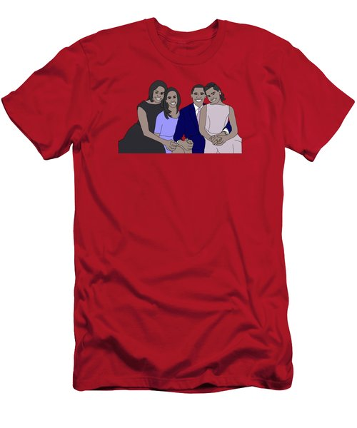 Obama Family Men's T-Shirt (Slim Fit) by Priscilla Wolfe