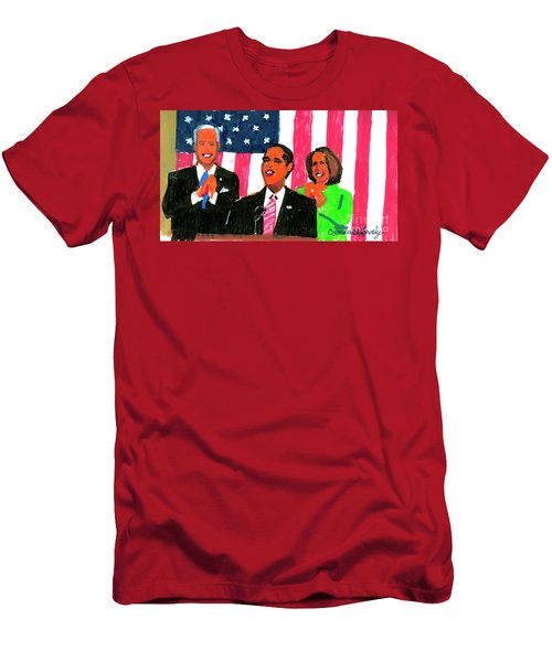 Obama's State Of The Union '10 Men's T-Shirt (Slim Fit) by Candace Lovely