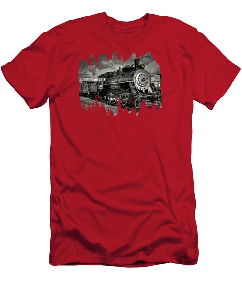 Old 104 Steam Engine Locomotive Men's T-Shirt (Slim Fit) by Thom Zehrfeld