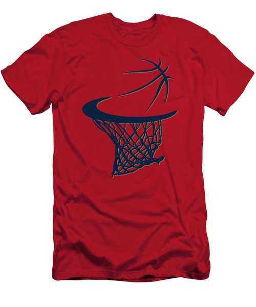 Pelicans Basketball Hoop Men's T-Shirt (Slim Fit) by Joe Hamilton