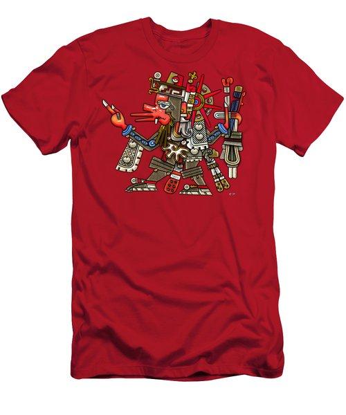 Quetzalcoatl In Human Warrior Form - Codex Borgia Men's T-Shirt (Slim Fit) by Serge Averbukh