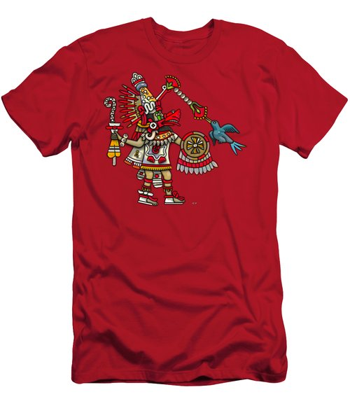 Quetzalcoatl In Human Warrior Form - Codex Magliabechiano Men's T-Shirt (Slim Fit) by Serge Averbukh