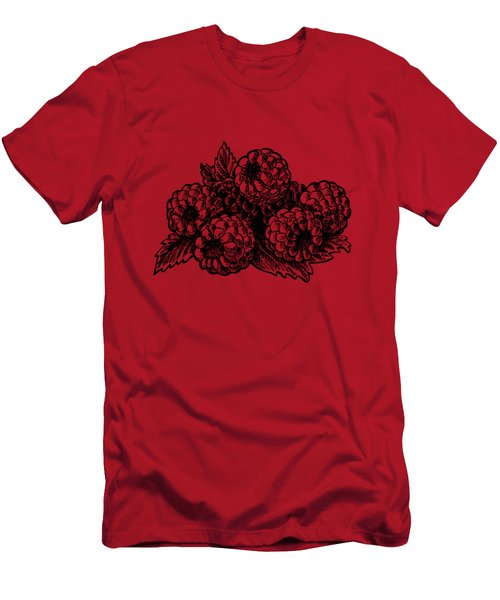 Rasbperries Men's T-Shirt (Slim Fit) by Irina Sztukowski