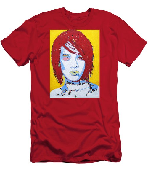 Rihanna  Men's T-Shirt (Slim Fit) by Stormm Bradshaw
