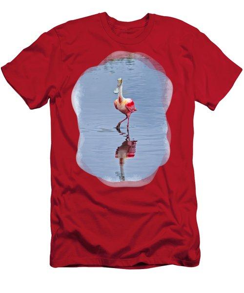 Spoonbill 2 Men's T-Shirt (Slim Fit) by John M Bailey
