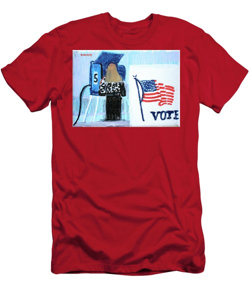 Voting Booth 2008 Men's T-Shirt (Slim Fit) by Candace Lovely