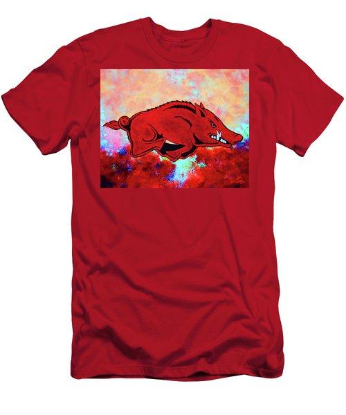 Woo Pig Sooie 3 Men's T-Shirt (Slim Fit) by Belinda Nagy