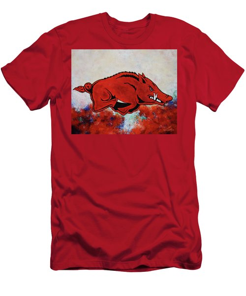 Woo Pig Sooie Men's T-Shirt (Slim Fit) by Belinda Nagy