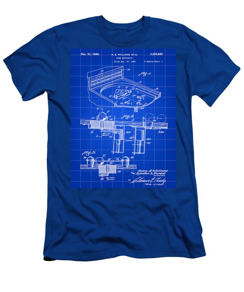 Pinball Machine Patent 1939 - Blue Men's T-Shirt (Slim Fit) by Stephen Younts
