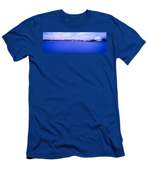 Tidal Basin Washington Dc Men's T-Shirt (Slim Fit) by Panoramic Images