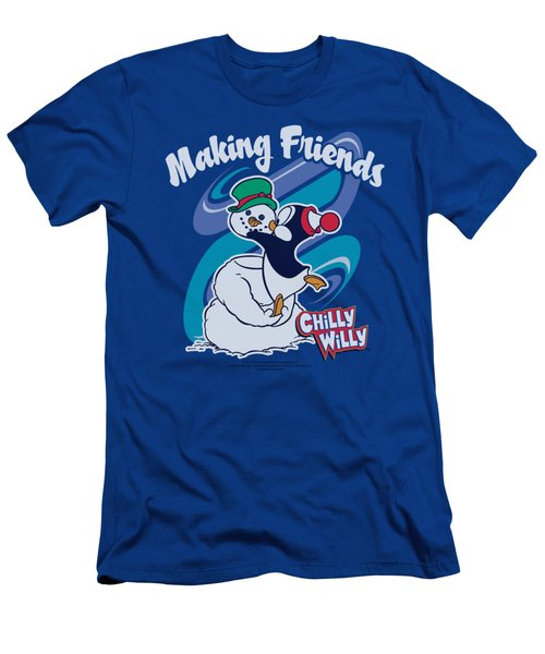 Chilly Willy - Making Friends Men's T-Shirt (Slim Fit) by Brand A