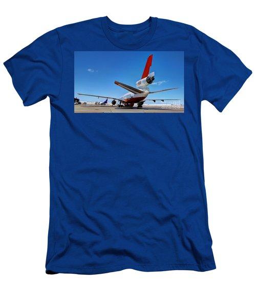 Men's T-Shirt (Slim Fit) featuring the photograph Dc-10 Air Tanker  by Bill Gabbert