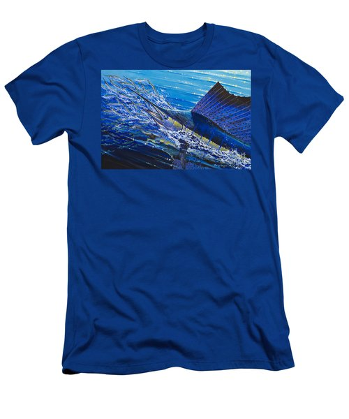 Sail On The Reef Off0082 Men's T-Shirt (Slim Fit) by Carey Chen