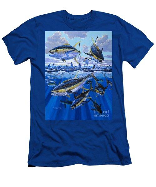 Tuna Rampage Off0018 Men's T-Shirt (Slim Fit) by Carey Chen