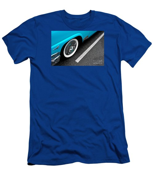 Men's T-Shirt (Slim Fit) featuring the photograph 1958 Ford Crown Victoria by M G Whittingham