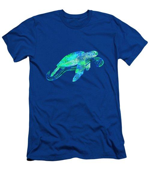 Sea Turtle Graphic Men's T-Shirt (Slim Fit) by Chris MacDonald