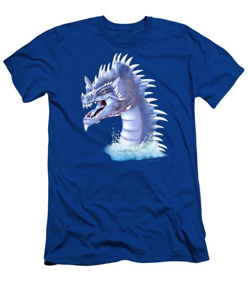 Arctic Ice Dragon Men's T-Shirt (Slim Fit) by Glenn Holbrook