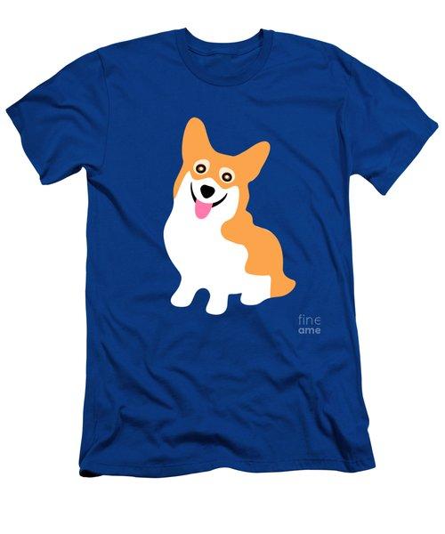 Smiling Corgi Pup Men's T-Shirt (Slim Fit) by Antique Images