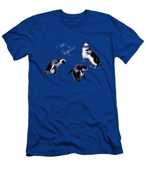 Cute Penguins Men's T-Shirt (Slim Fit) by Pennie  McCracken