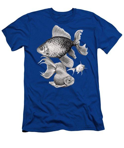 Goldfish Men's T-Shirt (Slim Fit) by Sarah Batalka