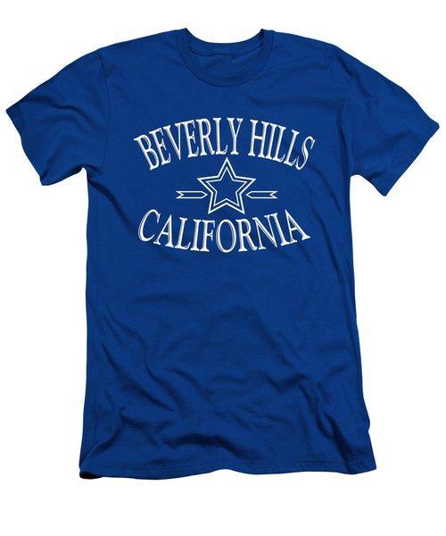 Beverly Hills California - Tshirt Design Men's T-Shirt (Slim Fit) by Art America Online Gallery