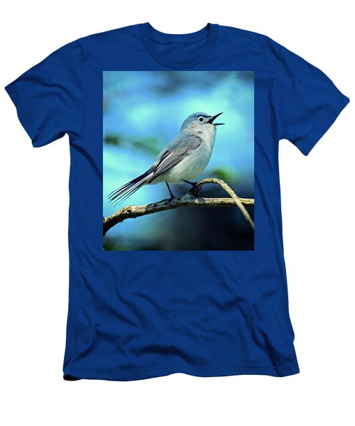 Men's T-Shirt (Slim Fit) featuring the photograph Blue-gray Gnatcatcher by Rodney Campbell