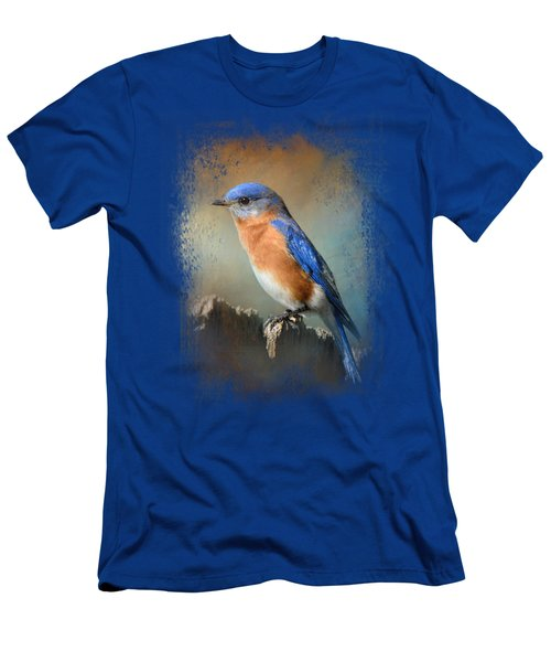Bluebird On The Fence Men's T-Shirt (Slim Fit) by Jai Johnson