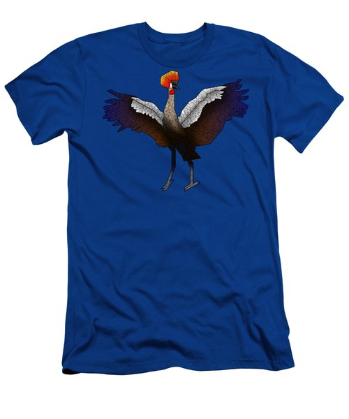Crowned Crane Men's T-Shirt (Slim Fit) by Dusty Conley