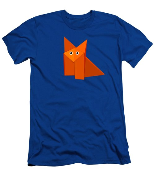 Cute Origami Fox Men's T-Shirt (Slim Fit) by Boriana Giormova