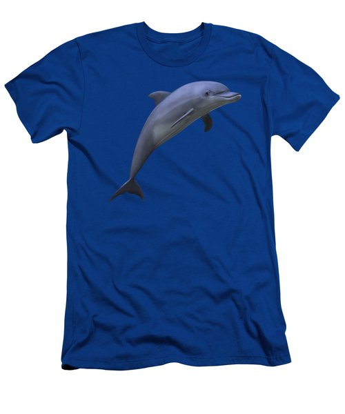Dolphin In Ocean Blue Men's T-Shirt (Slim Fit) by Movie Poster Prints
