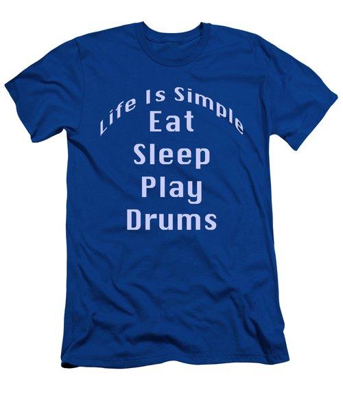 Drums Eat Sleep Play Drums 5513.02 Men's T-Shirt (Slim Fit) by M K  Miller
