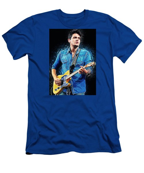 John Mayer Men's T-Shirt (Slim Fit) by Taylan Soyturk