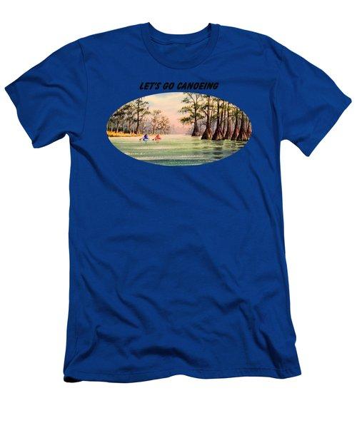 Let's Go Canoeing Men's T-Shirt (Slim Fit) by Bill Holkham