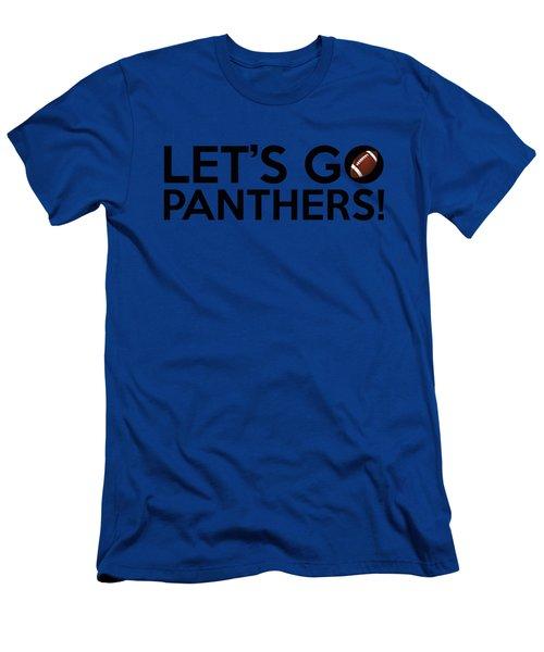 Let's Go Panthers Men's T-Shirt (Slim Fit) by Florian Rodarte