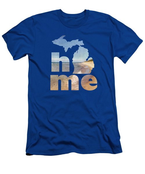 Michigan Home Men's T-Shirt (Slim Fit) by Emily Kay
