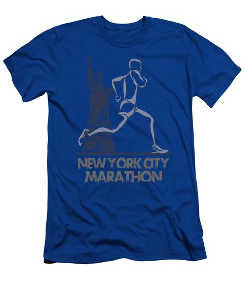 New York City Marathon3 Men's T-Shirt (Slim Fit) by Joe Hamilton