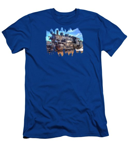 No. 25 Steam Locomotive Men's T-Shirt (Slim Fit) by Thom Zehrfeld