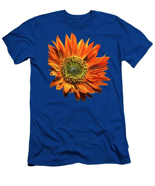 Orange Sunflower Men's T-Shirt (Slim Fit) by Christina Rollo