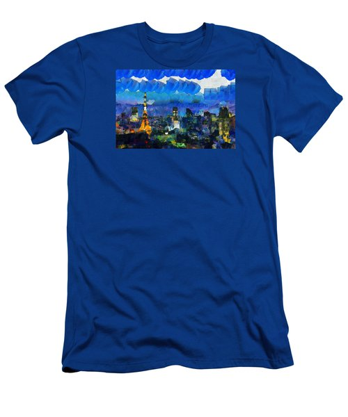Paris Inside Tokyo Men's T-Shirt (Slim Fit) by Sir Josef - Social Critic - ART